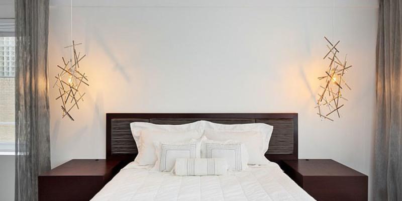 Оригинальные светильники для скандинавской спальни