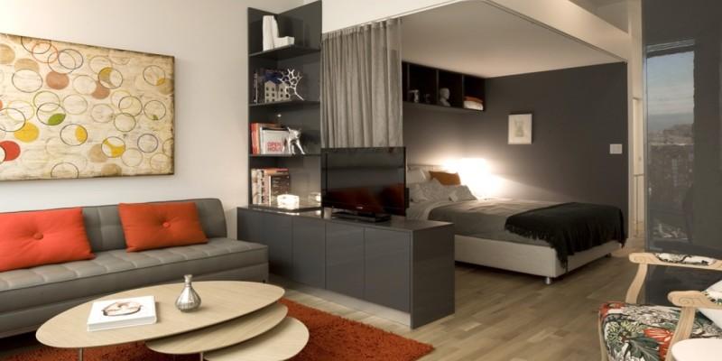 Дизайн спальни и гостиной в малогабаритной квартире