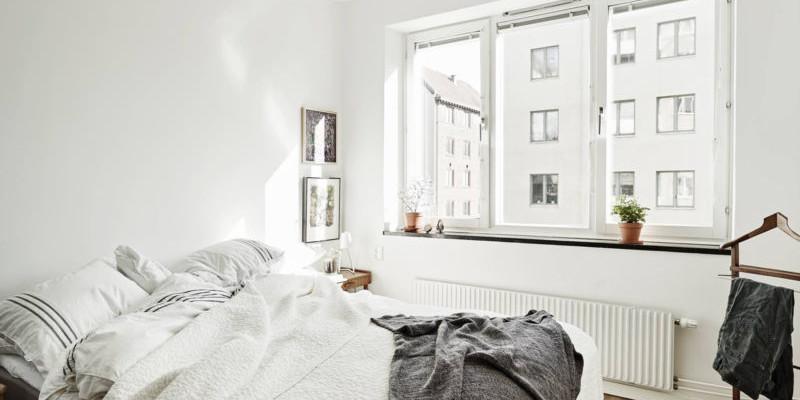 Просторная спальня в скандинавском стиле