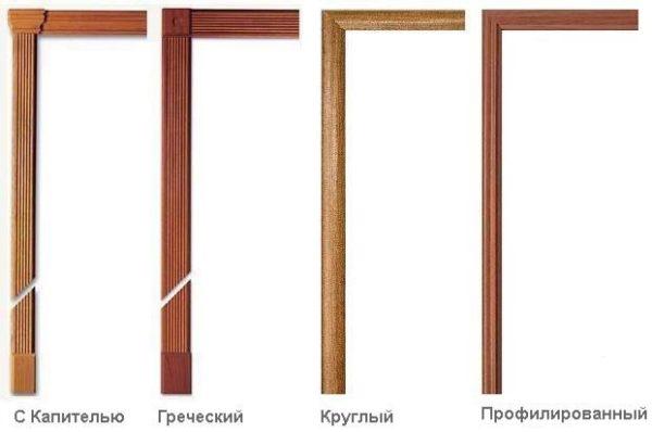 Виды дверных наличников
