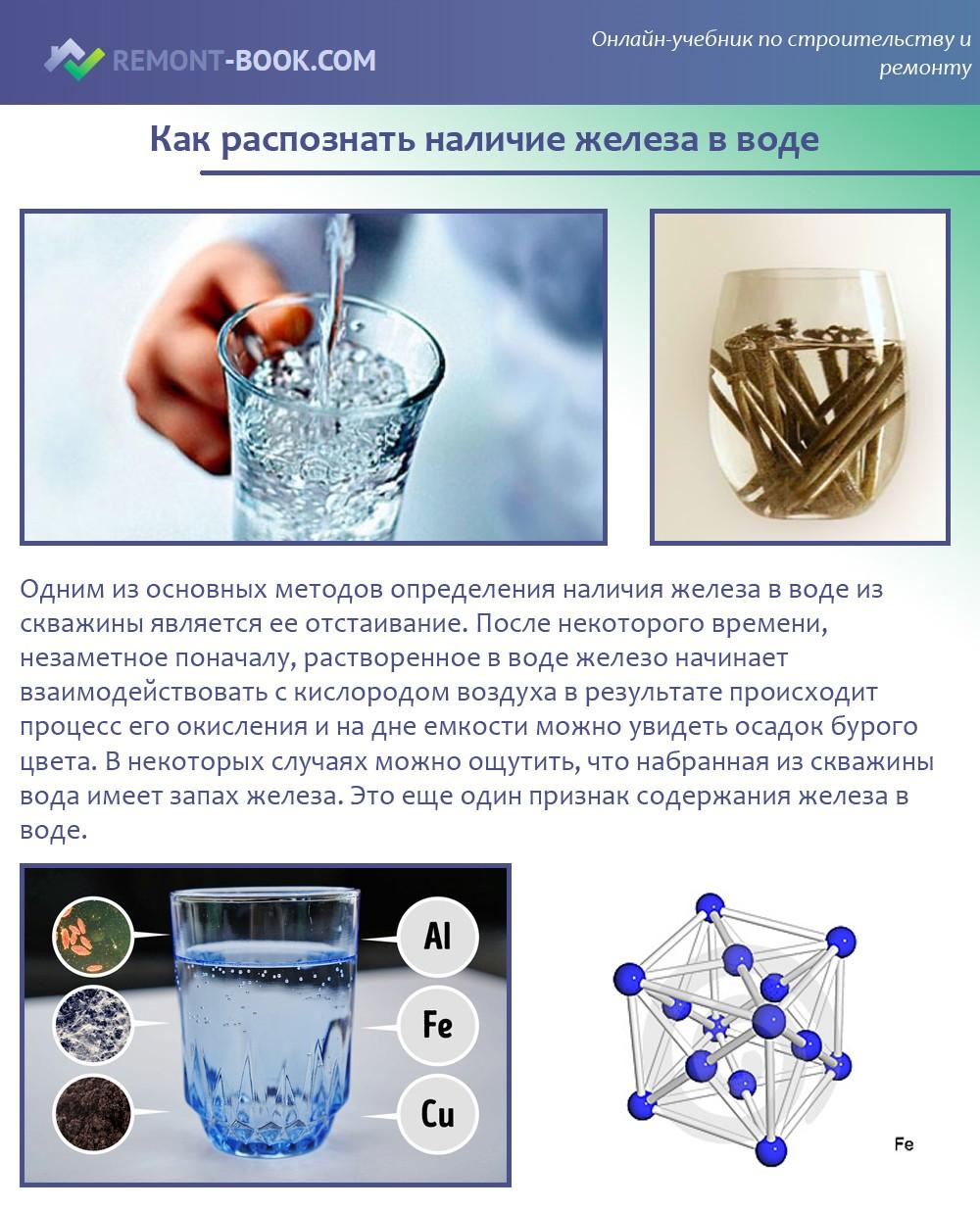 Как распознать наличие железа в воде