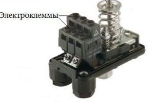 Клеммы подключения кабелей