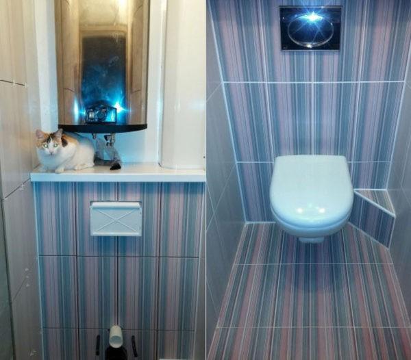 Отделка туалета пластиковыми панелями – экономичное решение, когда речь идет об обновлении интерьера санузла