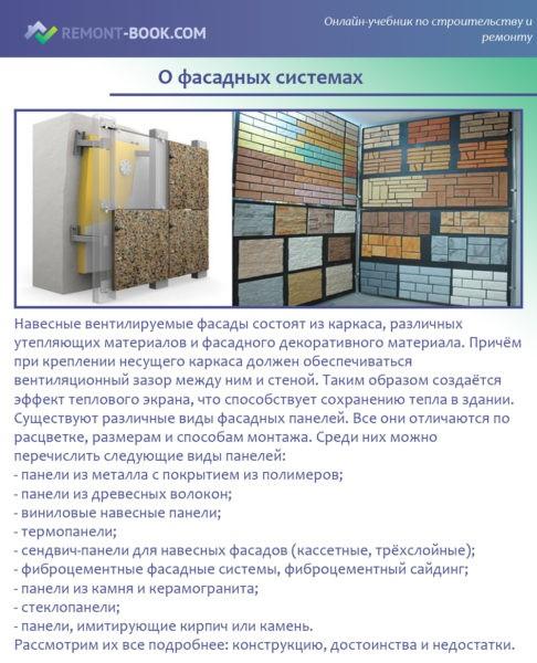 О фасадных системах