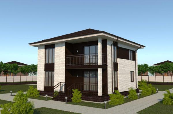 План дома 10 на 10 двухэтажный
