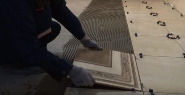 Приступаем к укладке плитки