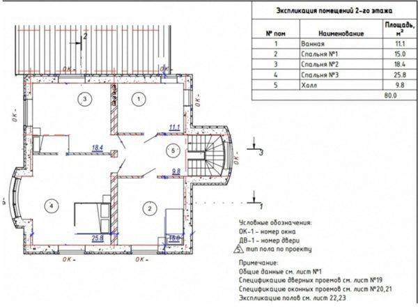 Схема 2-го этажа