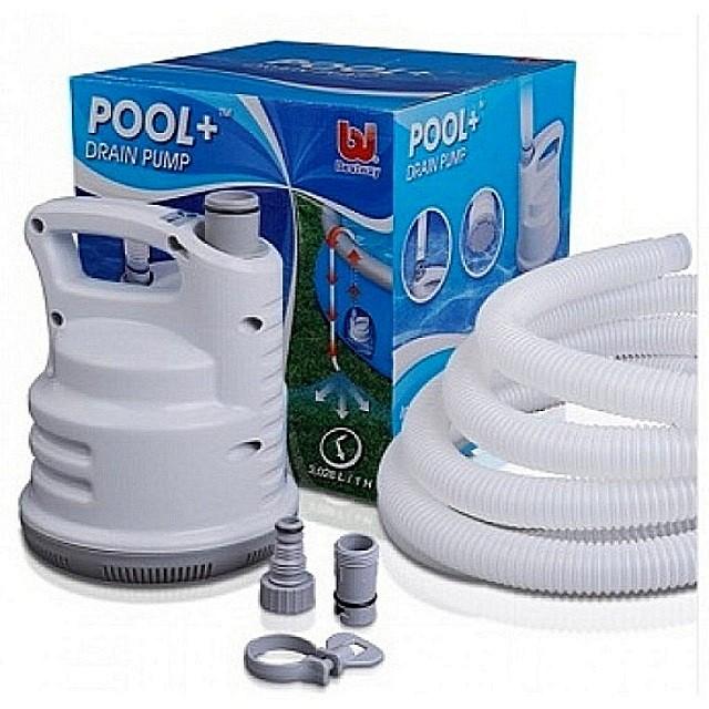 Погружной насос для откачки воды из бассейна.
