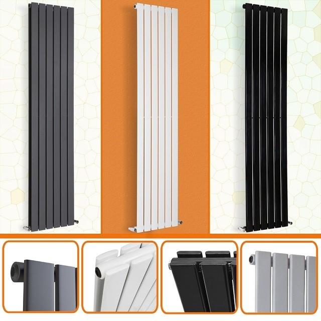 Вертикальные стальные радиаторы могут быть практически незаметными, если правильно подобрать их месторасположение и цвет, который будет гармонировать с окружающей обстановкой.