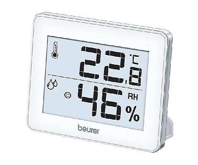 Компактный настольный прибор – «метеостанция» с индикацией показателей температуры и относительной влажности.