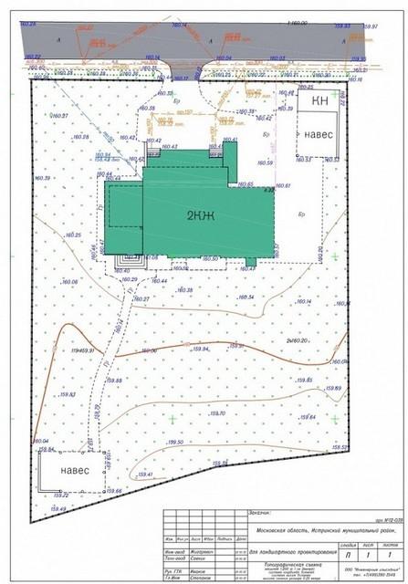 Пример топографической съемки участка.