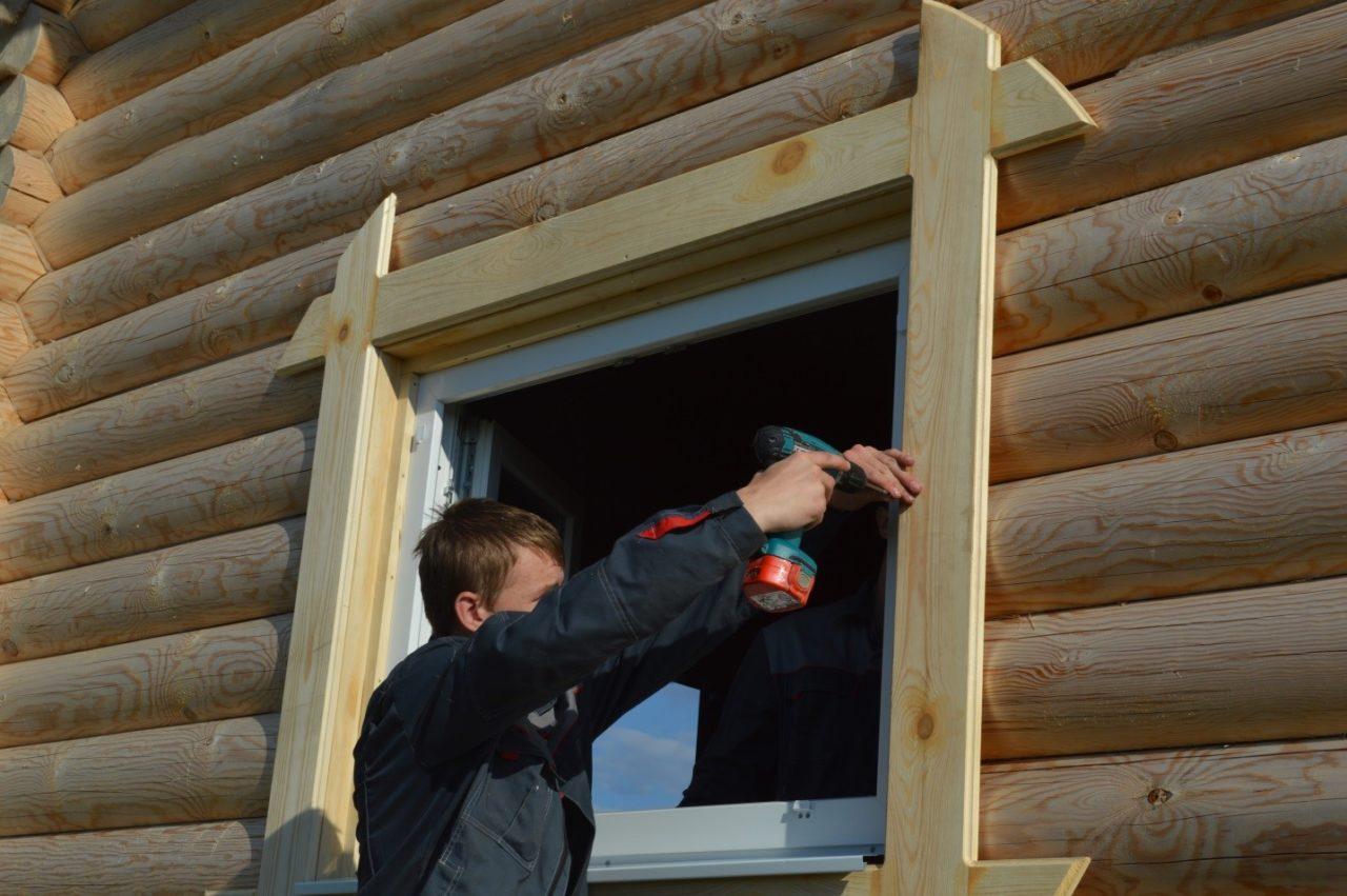 Как правильно сделать окосячку в деревянном доме