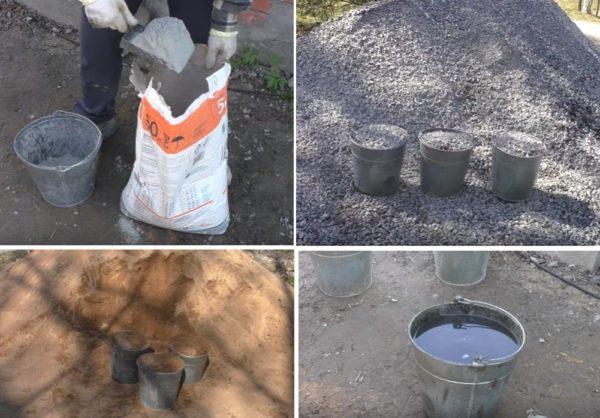 Стандартные пропорции цемента, песка, щебня и воды для замеса бетона