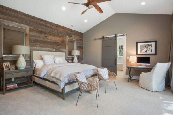Спальня в скандинавском стиле - светлая, просторная, очень уютная