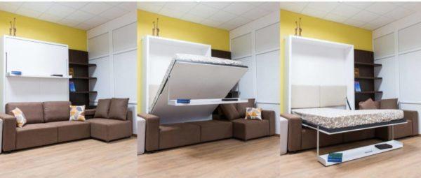 Трансформируемая мебель в собранном виде занимает минимум свободного пространства