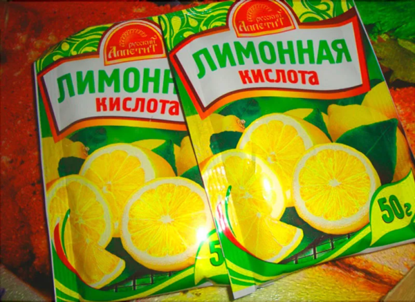 Понадобится 3-4 пачки лимонной кислоты