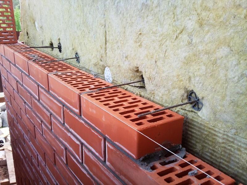 отделка стен облицовочным кирпичом