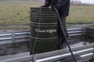 Шаг 8 - организация подачи воды для бурения
