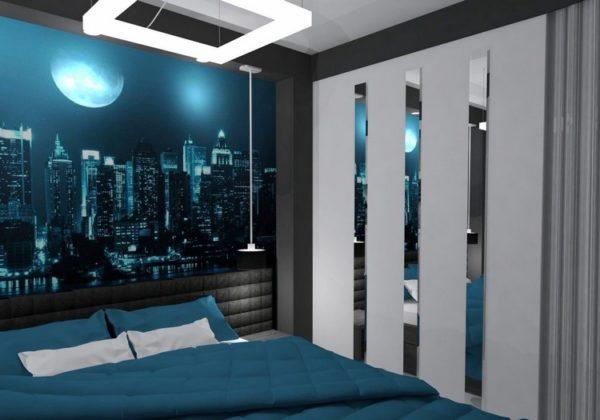 В маленькой спальне такие фотообои тоже уместны