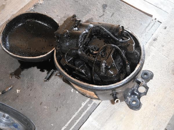 Сгоревший компрессор придется утилизировать