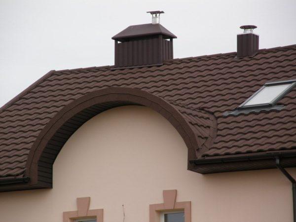 Крыши с полукруглыми элементами