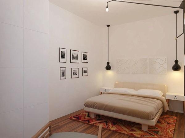 Еще один вариант освещения спальни