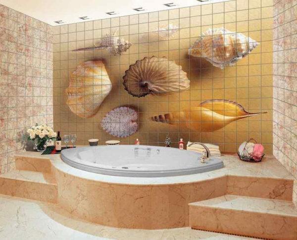 3D панно в ванной