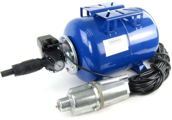 Погружной насос комплектуется автоматикой отдельно