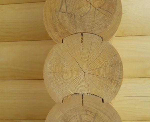 Качественные бревна с финским профилем и заводской сушкой