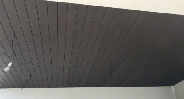 Готовый деревянный реечный потолок