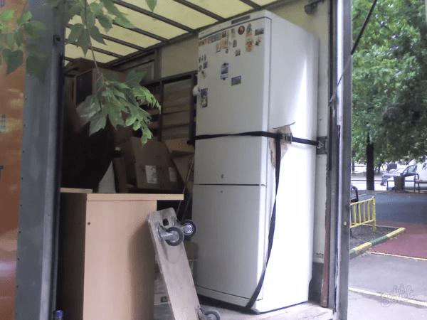 Если вы не можете определить правильную сторону, то лучше перевозить холодильник вертикально