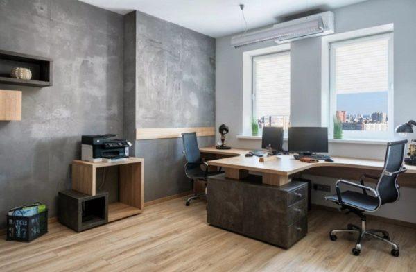 Современный стол на два рабочих мета
