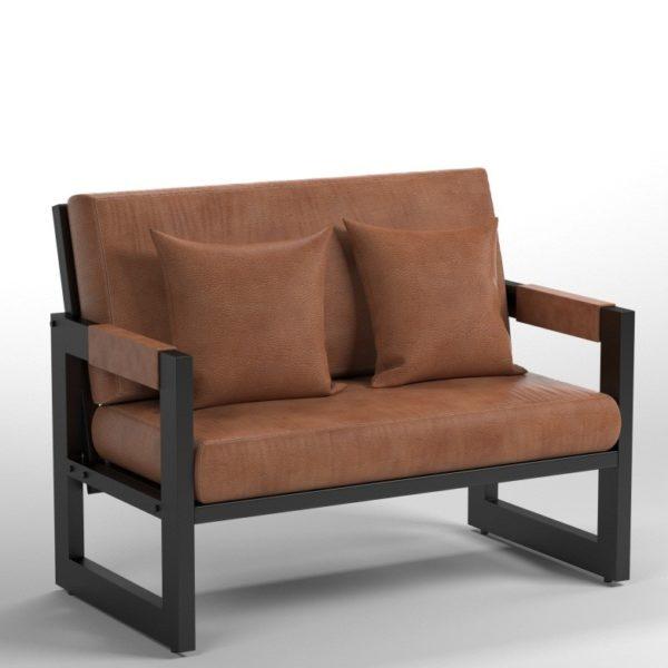Мини-диван в стиле лофт для посетителей
