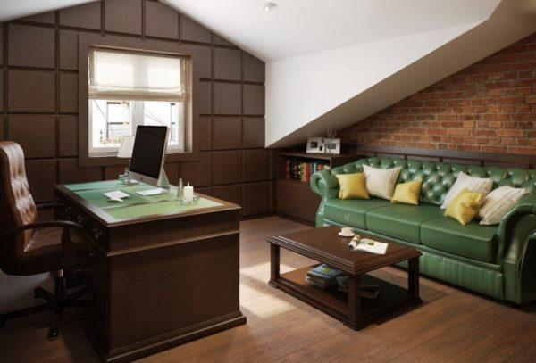 Мебель с классическим дизайном для кабинета в стиле лофт