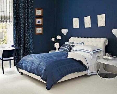 Темно-синяя спальня