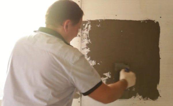 Шаг 6 - фиксируем сетку на стене