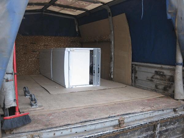 Так должен выглядеть холодильник в случае горизонтальной перевозки