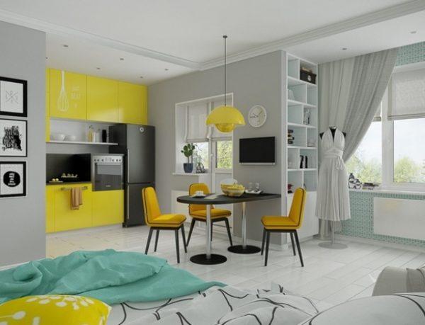 Вариант оформления квартиры-студии