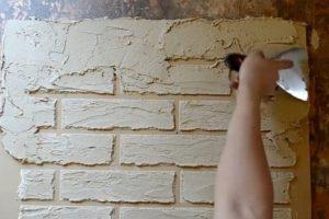 Шаг 5 – имитация оголённого фрагмента кладки