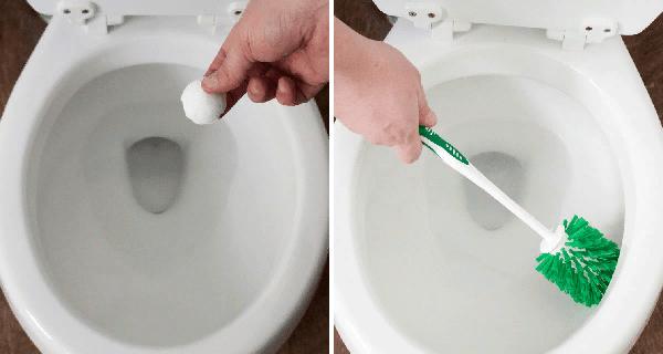 По завершению процедуры необходимо смыть кислоту, а потом удалить остатки загрязнений ершиком