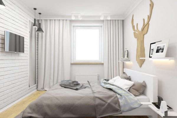 Ткань для штор рекомендуется выбирать однотонную и светлых оттенков