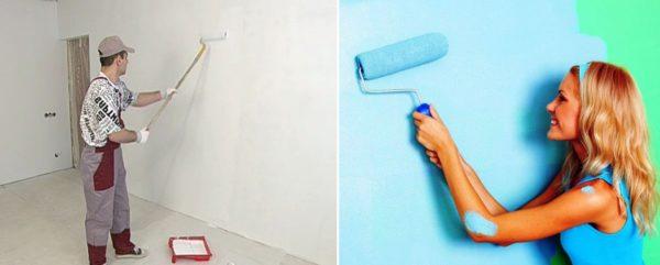 Для стен лучше всего подходит белый цвет и нежные оттенки голубого