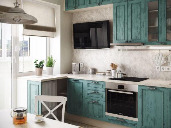 Оформление кухни в деревенском стиле отлично подходит для небольшой квартиры