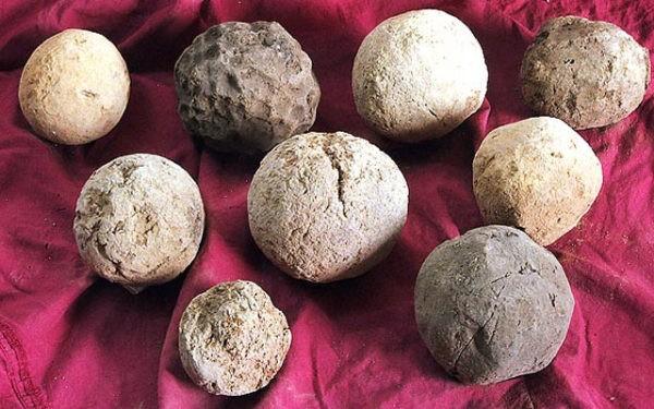 Качество глины определяется после высыхания шариков