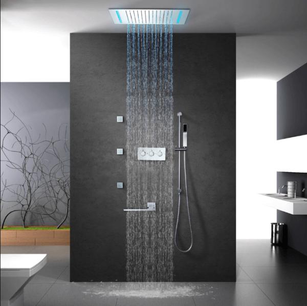 Скрытый потолочный душ