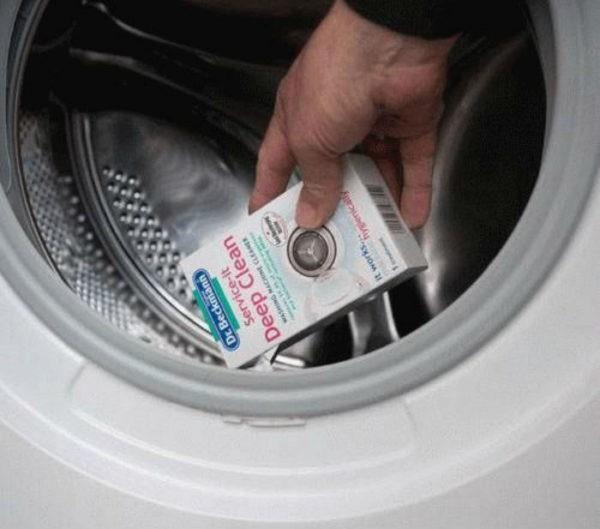 Профессиональное средство для очищения стиральной машины