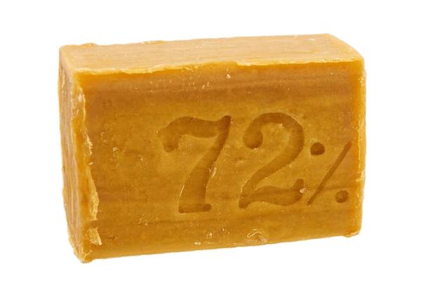Рекомендуется использовать мыло не меньше 72%