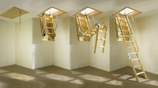 Для самостоятельной сборки деревянной секционной лестницы понадобиться минимум строительных навыков