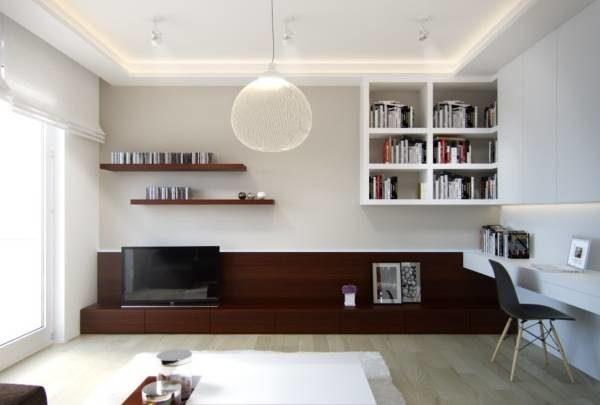 Минималистический стиль отлично подходит для малогабаритных квартир