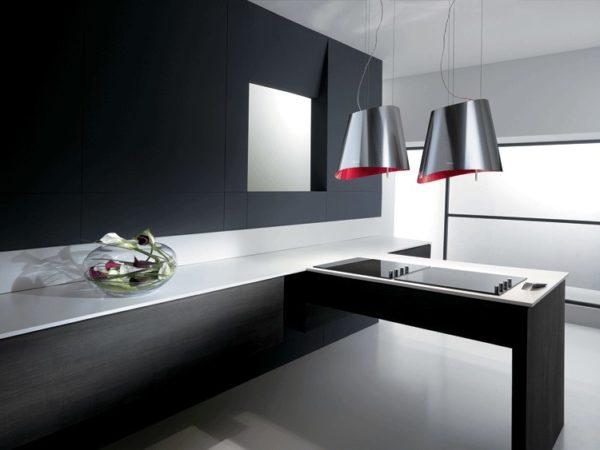 Подвесные модели смотрятся очень оригинально и отлично вписываются в современный интерьер кухни
